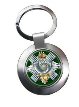 Highland Light Infantry (British Army) Chrome Key Ring