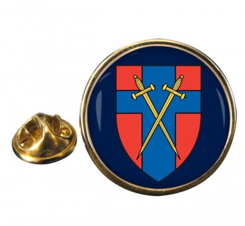 Headquarters British Forces Germany (HQ BFG) Round Pin Badge