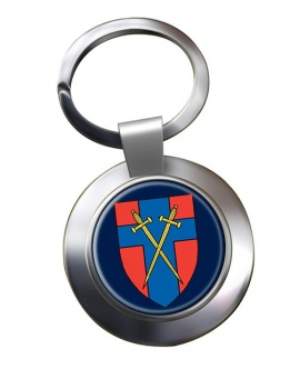 Headquarters British Forces Germany (HQ BFG) Chrome Key Ring