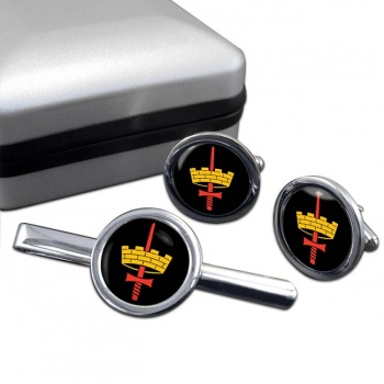 Headquarters London District (LONDIST) Round Cufflink and Tie Clip Set