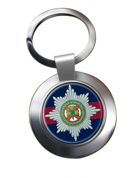 Irish Guards Chrome Key Ring