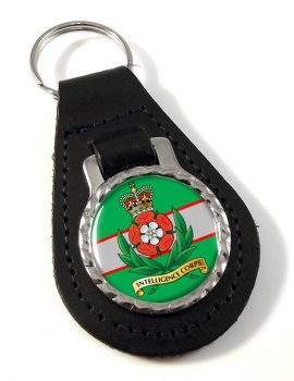 Intelligence Corps (British Army) Leather Key Fob