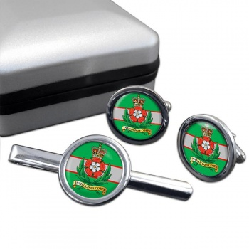 Intelligence Corps (British Army) Round Cufflink and Tie Clip Set