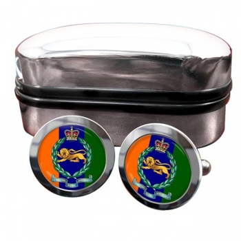 King's Own Royal Border Regiment (British Army) Round Cufflinks