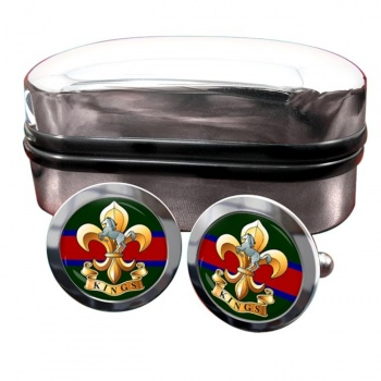 King's Regiment Round Cufflinks