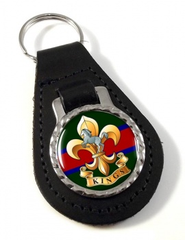 King's Regiment Leather Key Fob