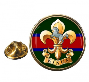 King's Regiment Round Pin Badge
