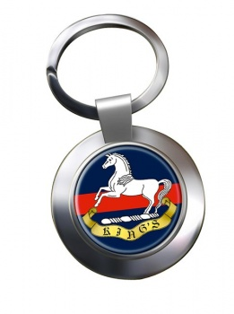 King's Regiment (British Army) (Liverpool) Chrome Key Ring