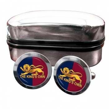 King's Own Royal Regiment Round Cufflinks