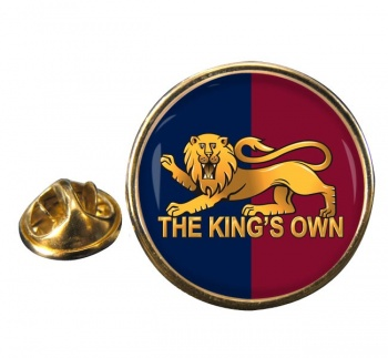 King's Own Royal Regiment Round Pin Badge