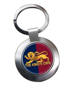 King's Own Royal Regiment Chrome Key Ring