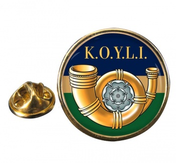 King's Own Yorkshire Light Infantry (British Army) Round Pin Badge