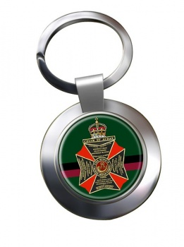 King's Royal Rifle Corps (British Army) Chrome Key Ring
