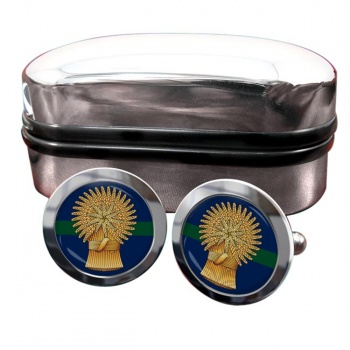 Lothians and Borders Horse Yeomanry (British Army) Round Cufflinks