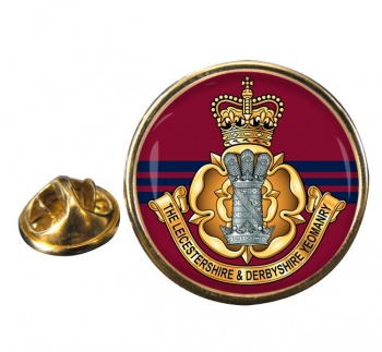 Leicestershire and Derbyshire Yeomanry Round Pin Badge