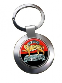 Leicestershire Regiment (British Army) Chrome Key Ring