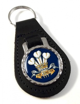 Prince of Wales's Leinster Regiment (British Army) Leather Key Fob