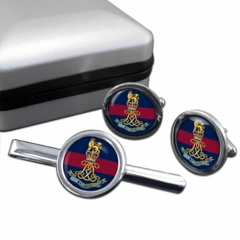 Life Guards (British Army)  Round Cufflink and Tie Clip Set
