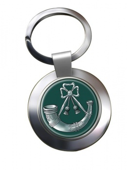 Light Infantry (British Army) Chrome Key Ring