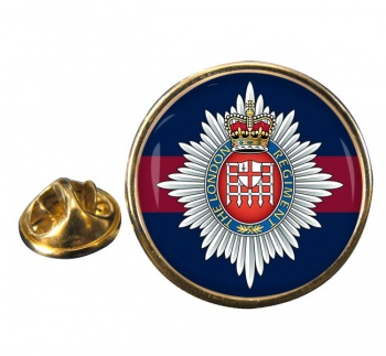 London Regiment Round Pin Badge