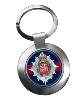 London Regiment Chrome Key Ring