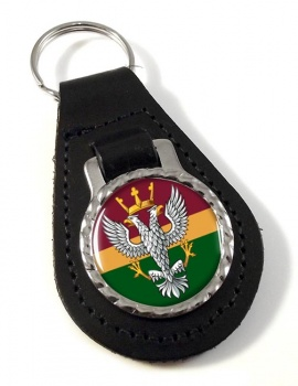 Mercian Regiment (British Army) Leather Key Fob
