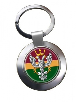 Mercian Regiment (British Army) Chrome Key Ring