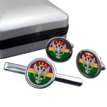 Mercian Regiment (British Army) Round Cufflink and Tie Clip Set