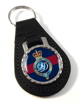 Minden Band of the Queen's Division (British Army) Leather Key Fob