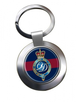 Minden Band of the Queen's Division (British Army) Chrome Key Ring