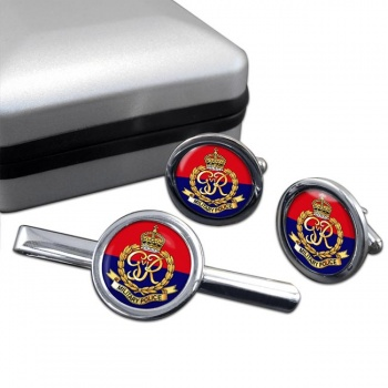 Military Police 1937-46 Round Cufflink and Tie Clip Set