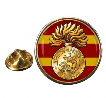 Northumberland Fusiliers (British Army) Round Pin Badge