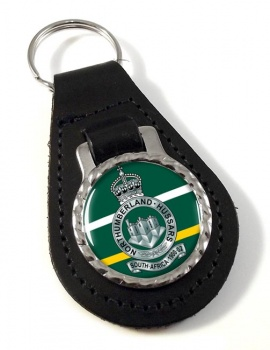 Northumberland Hussars (British Army) Leather Key Fob
