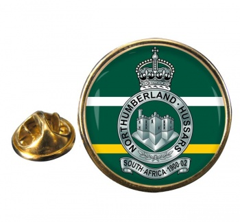 Northumberland Hussars (British Army) Round Pin Badge