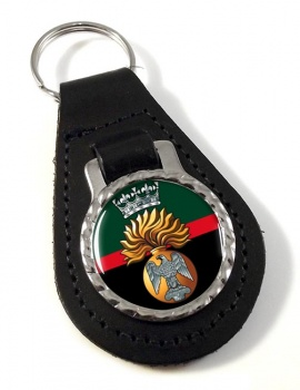 Princess Victoria's (Royal Irish Fusiliers) British Army Leather Key Fob