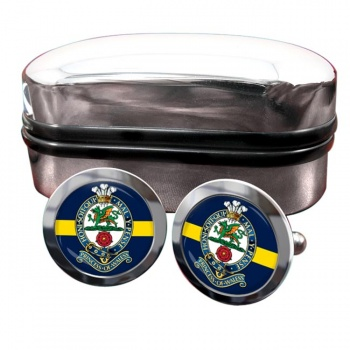 Princess of Wales Royal Regiment Round Cufflinks