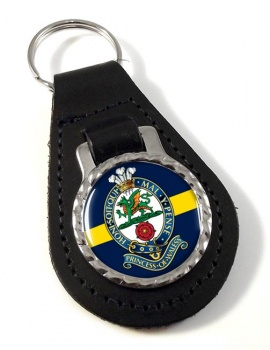 Princess of Wales Royal Regiment Leather Key Fob
