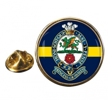 Princess of Wales Royal Regiment (British Army) Round Pin Badge
