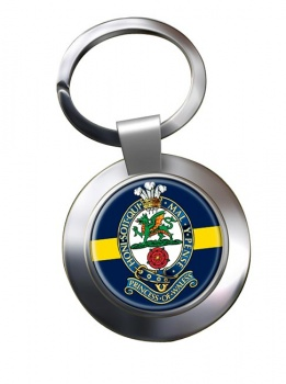 Princess of Wales Royal Regiment Chrome Key Ring