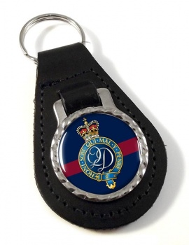 Queen's  Division (British Army) Leather Key Fob