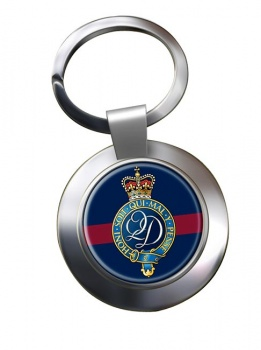 Queen's  Division (British Army) Chrome Key Ring
