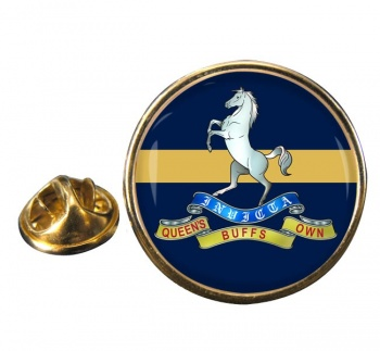 Queen's Own  Buffs (British Army) Round Pin Badge
