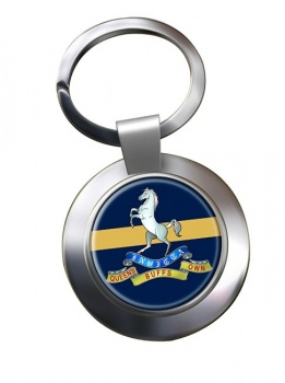 Queen's Own  Buffs (British Army) Chrome Key Ring