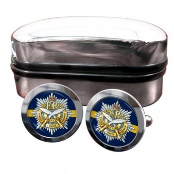 Queens Own Gurkha Logistic Regiment (British Army)  Round Cufflinks