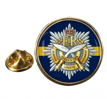 Queens Own Gurkha Logistic Regiment (British Army)  Round Pin Badge