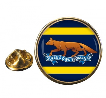 Queen's Own Yeomanry (British Army) Round Pin Badge