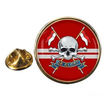 Queen's Royal Lancers (British Army) Round Pin Badge