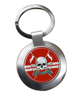 Queen's Royal Lancers (British Army) Chrome Key Ring