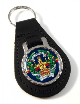Queen Victoria  School (British Army) Leather Key Fob
