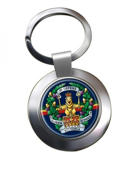 Queen Victoria  School (British Army) Chrome Key Ring